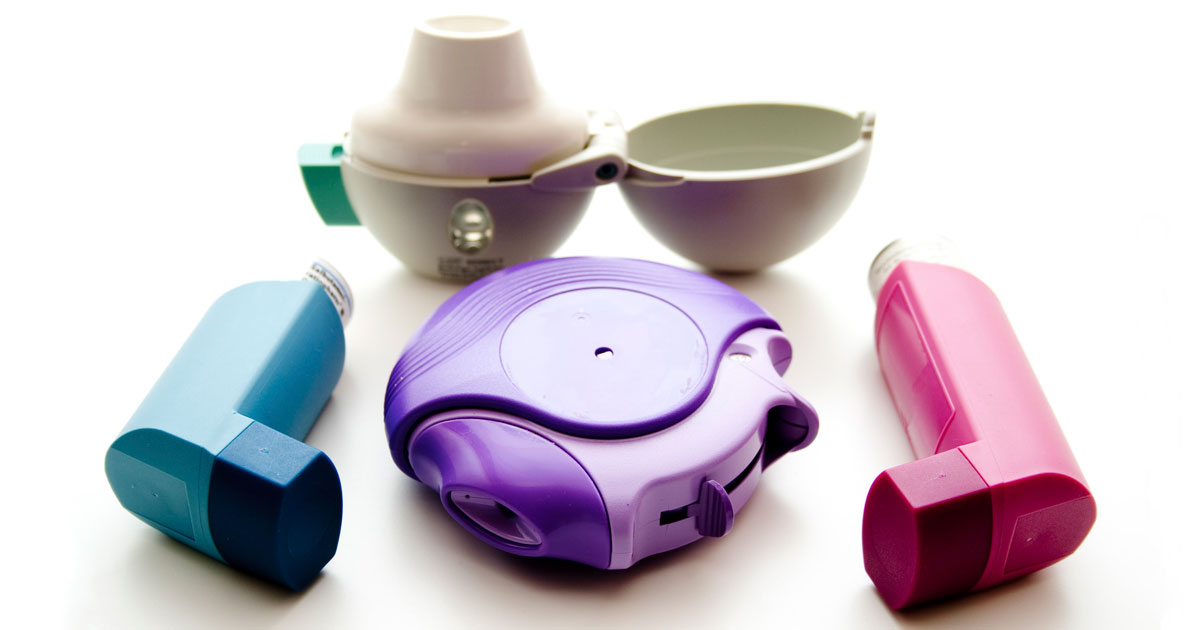 Various types of inhalers