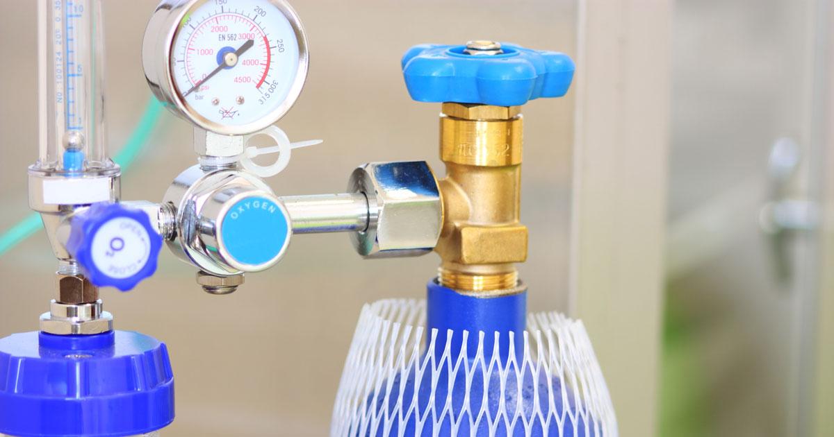 A portable oxygen tank