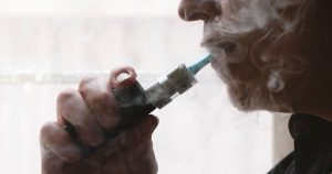 Man smoking from a vape