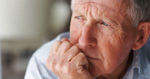 Depressed senior man